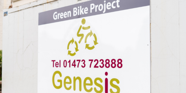 green bike project sign