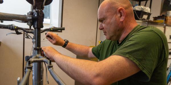 Repairing bikes in the green bike project
